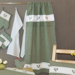 weiß kariert Stickerei grün Herz -18//28cm Raebel Topfhandschuh