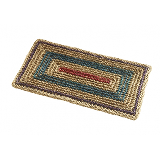 doormat, angular, coloured, 60x35 cm, seagrass
