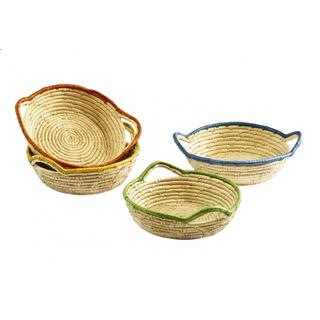 Dekoschale oval Weide grün mit Textilfutter