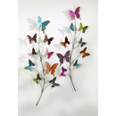 wall-decoration butterfly from metal, multicolor, 2 assorted