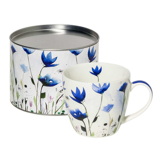 Aquarell Cornflower - Porzellanbecher im Geschenkkarton, New Bone China