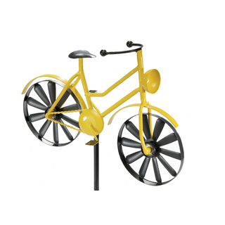 Dekostecker YELLOW BIKE aus Metall