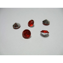 200 SILVER-RED TABLE DIAMONDS  - 8mm