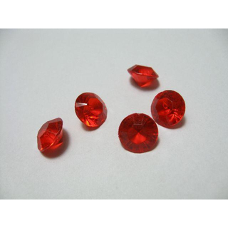 1000 rote Deko Diamanten 8 mm