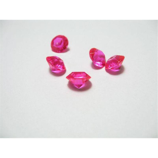1000 pinkfarbene Deko Diamanten 8 mm