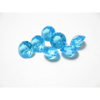 2000 hellblaue Deko Diamanten 6,5mm